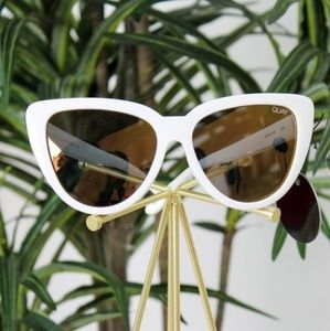 Quay Australia White Cat Eye Sunglasses